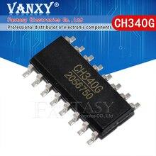 5PCS CH340G SOP16 340G SOP 16 CH340 SOP Original IC R3 Bord Kostenloser USB Kabel Serielle Chip
