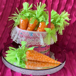 20pcs Easter Carrot Candy Bag Easter Bunny Rabbit DIY Gift Bag Candy Cone Plastic Bags Happy Easter Birthday Party Decoration