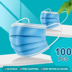Meltblown-Cloth-Masks Face-Mask Mascarillas Disposable 3-Layer 50/100pcs Anti-Dust Elastic