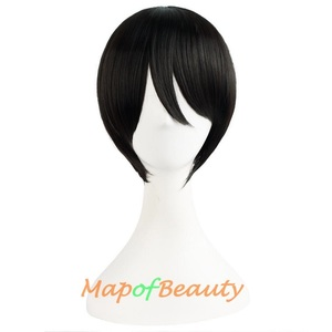 """Image 3 - MapofBeauty 16"""" Short Curly Black Ponytail Lolita Wigs for Women Cosplay Synthetic Hair Heat Resistant Claw LoveLive! YazawaNico"""