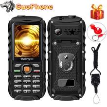 """電源銀行携帯電話2.4 """"防水耐衝撃拡声器強力な懐中電灯デュアルsim MP3 3800 5000mahの屋外頑丈な携帯電話"""