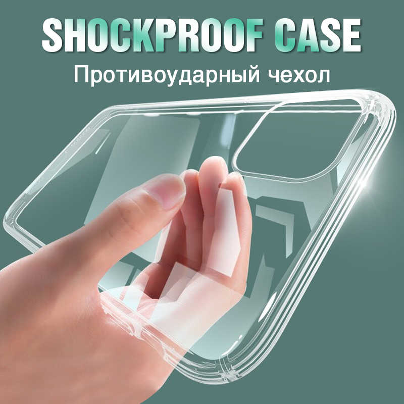Ultra Thin Clear Silicone Telefoon Case Op Voor Iphone 11 Pro Max Se 2020 Case Iphone Xr Xs Max X 7 8 6 6S Plus Zachte Tpu Cover