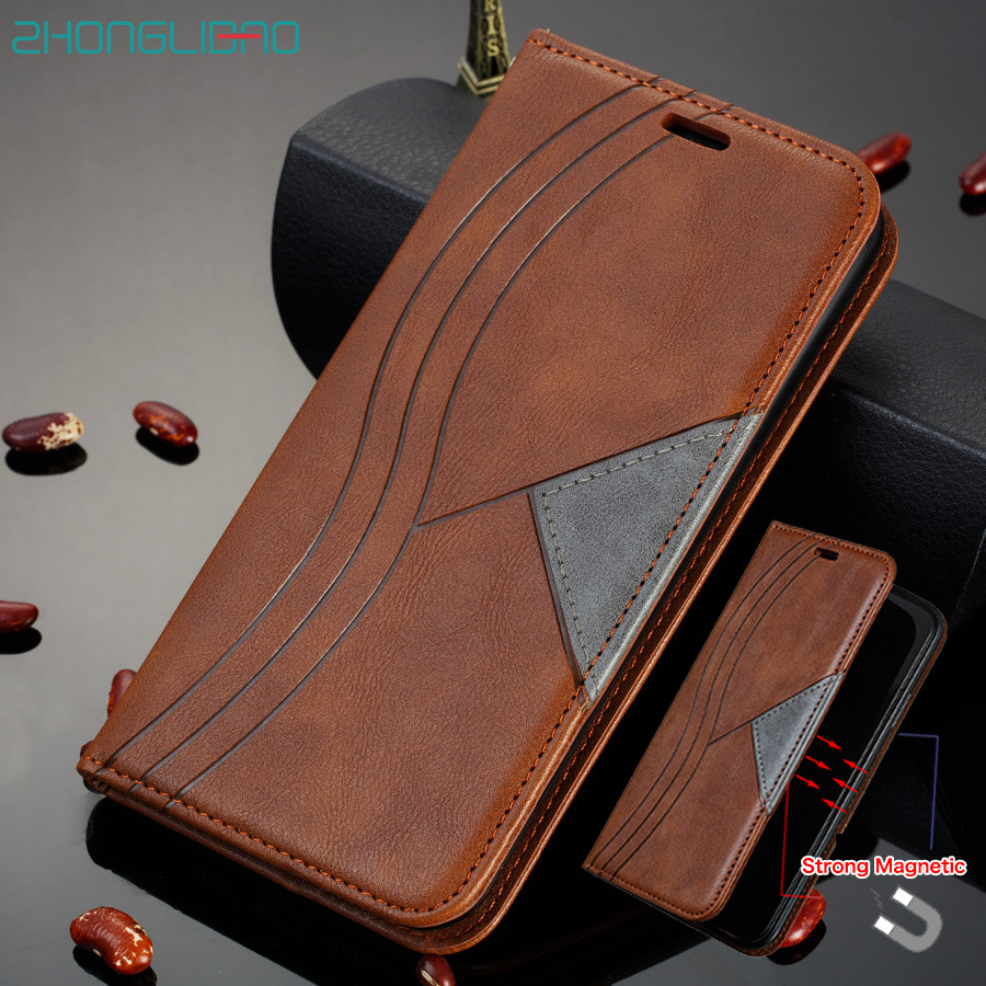 <font><b>a50</b></font> a10 a30 a10e Magnetic Flip Case for <font><b>samsung</b></font> note 10 9 8 s10 s9 s8 plus a20e m10 a40 a70 pu Leather Wallet Holster Book Cover image