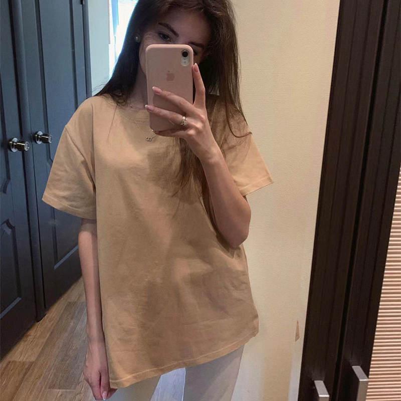 Alien Kitty 2019 New Soft Free Loose Hot Sale Solid Fresh Summer New T-shirt Women Fashion Natural Short Basic Shirt 4 Colors(China)