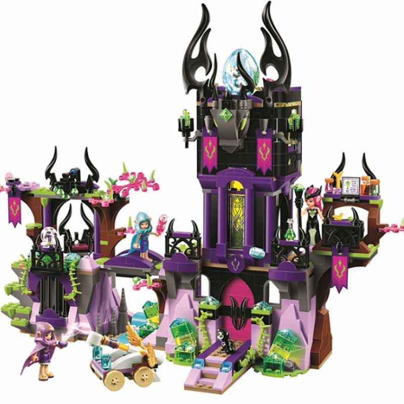 10551 1023pcs elves ragana shadow castle girl friends fairy Compatible with <font><b>legoinglys</b></font> <font><b>41180</b></font> building block Bricks Toy image