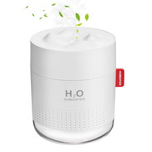 USB Rechargeable Humidifier 450ml Cool Mist Air Humidifiers Portable Mini LED Light 2000mAh Battery Wireless Quiet Car Freshener