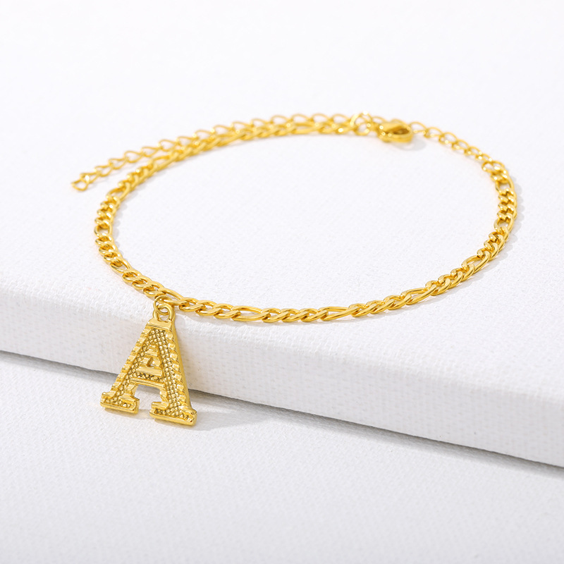 26 Initial Letter Anklets For Women Stainless Steel Gold Alphabet Anklet Bracelet Boho Foot Jewelry Gift Women Accesorios Mujer