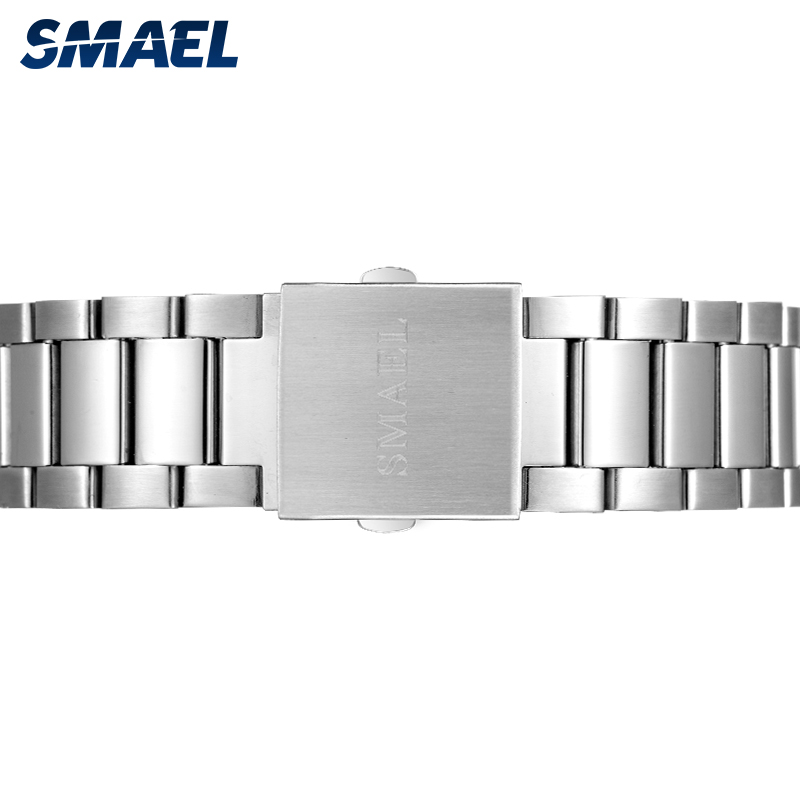 Image 4 - SMAEL Business Men Watches Casual Waterproof Men's Quartz Wristwatch Fashion Stainless Steel Band Clock Sport Watches Men 9089-in Quartz Watches from Watches