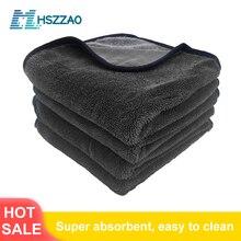 Serviette en microfibre pour lavage de voiture, cristal ciré Extra doux, chiffon de séchage pour le nettoyage et lentretien de la voiture