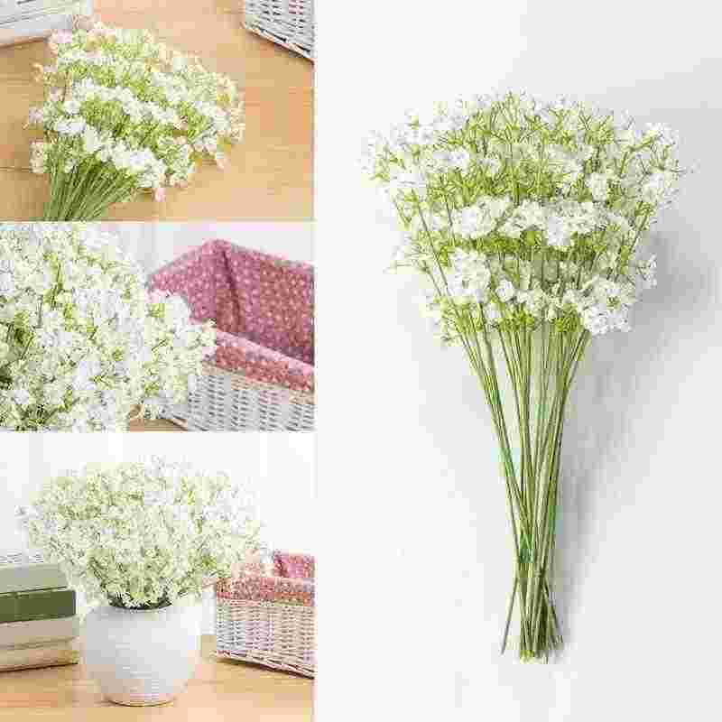 1pcs Diy Artificial Baby's Breath Flower Simulation Gypsophila Silk Flower Meterial Plant For Party Home Decoration Accessories