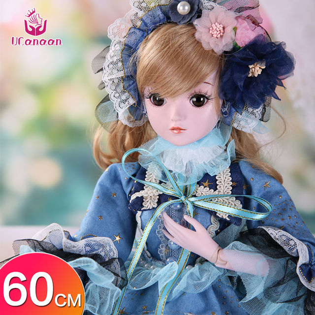 BJD Dolls with Clothes Outfit Shoes Wig Hair Makeup 19 Ball Joints SD Dolls for Girls