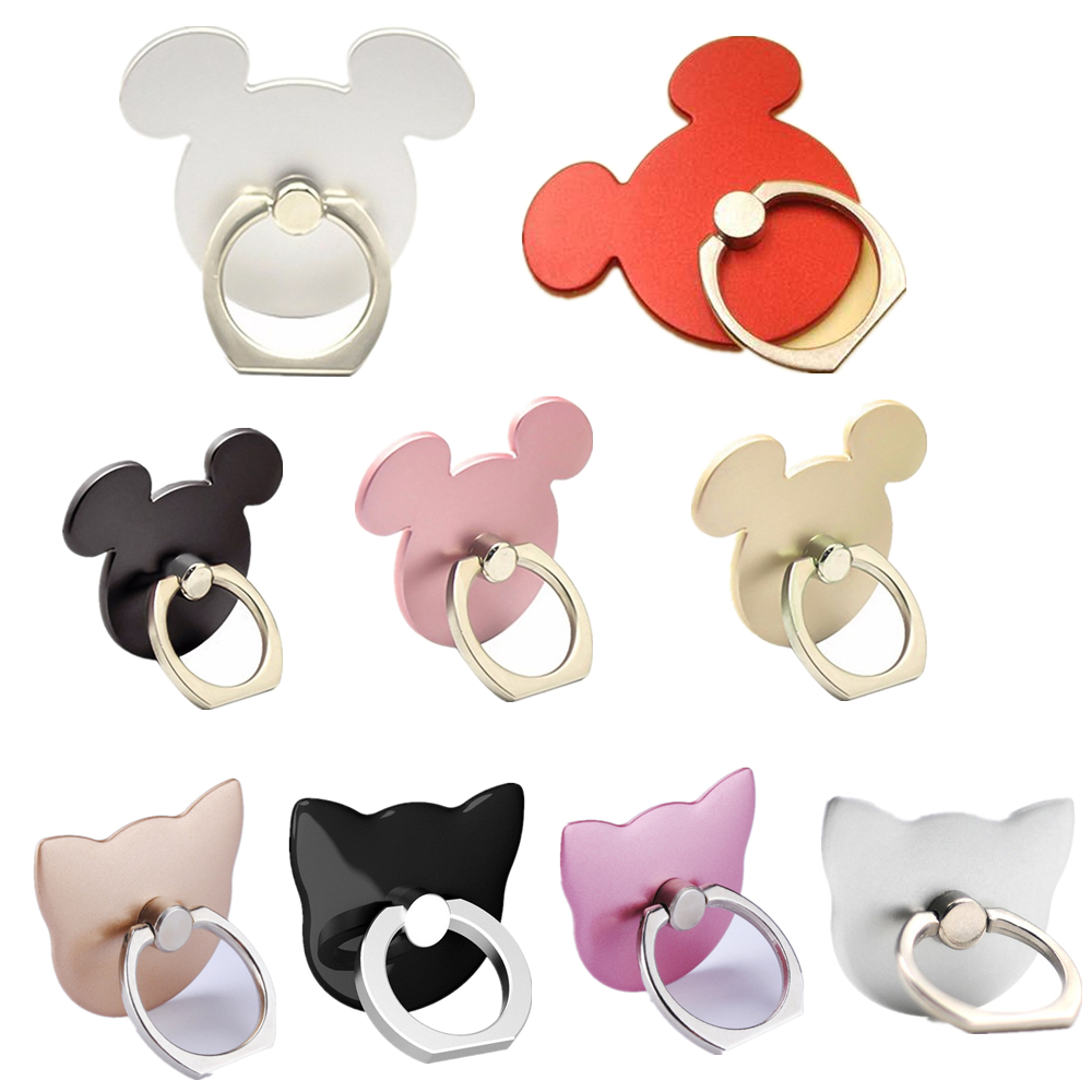 Mobile Phone Socket Holder Stand 360 Degree Mouse Shape Finger Ring Socket  For Mickey Cell Phone Socket For All Smfor Phone