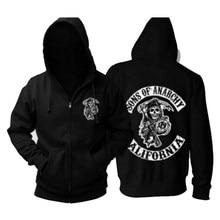 Tevê sons of anarchy jacket trajes moletons outono 3d impressão samcro jax cosplay casacos com capuz para mulher e homem