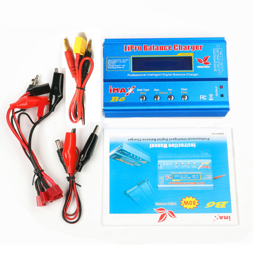 Original IMAX B6 MINI Balance Charger Discharger For RC Helicopter Re-peak NIMH/NICD LCD Smart Battery Charger