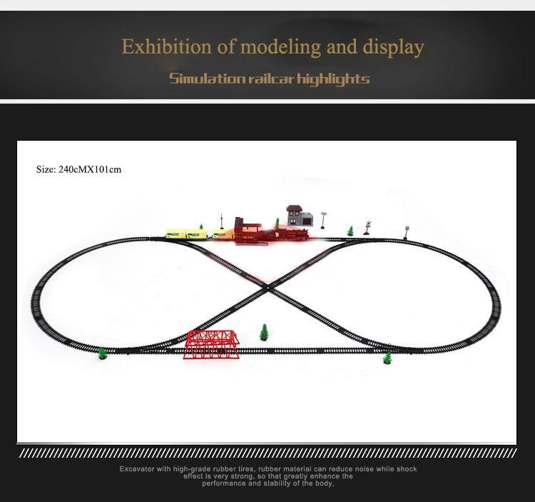 Clássico trem de luz elétrica conjunto ferroviário