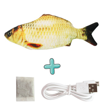 Moving Fish Cat Toy Electronic Flopping Cat Kicker Fish Toy Catnip Fish Toys for Cats Pet Supplies Funny Chew Toy for Indoor Cat 21