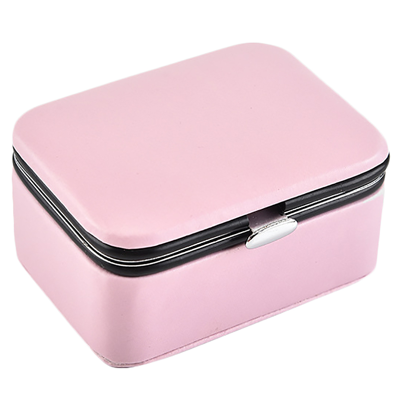 Travel Jewelry Packing Box Cosmetic Makeup Organizer Jewelry Box Earrings Display Rings Organizer Jewelry Casket Carrying Case