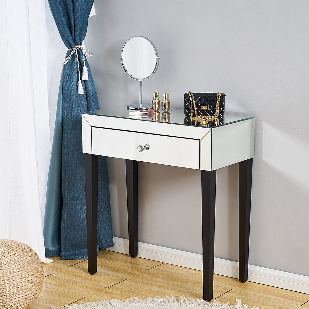Panana Bedroom Furniture Beautify Mirrored Dressing Table Console Table Corner Table Dresser For Small Room Fast Ship To Europe