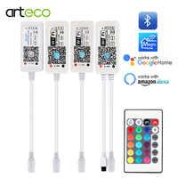 5V 12V 24V LED de Bluetooth/WIFI/RGB/RGBW/RGBWW controlador Android IOS APP Alexa de Amazon, Google magia CASA DE Control IR