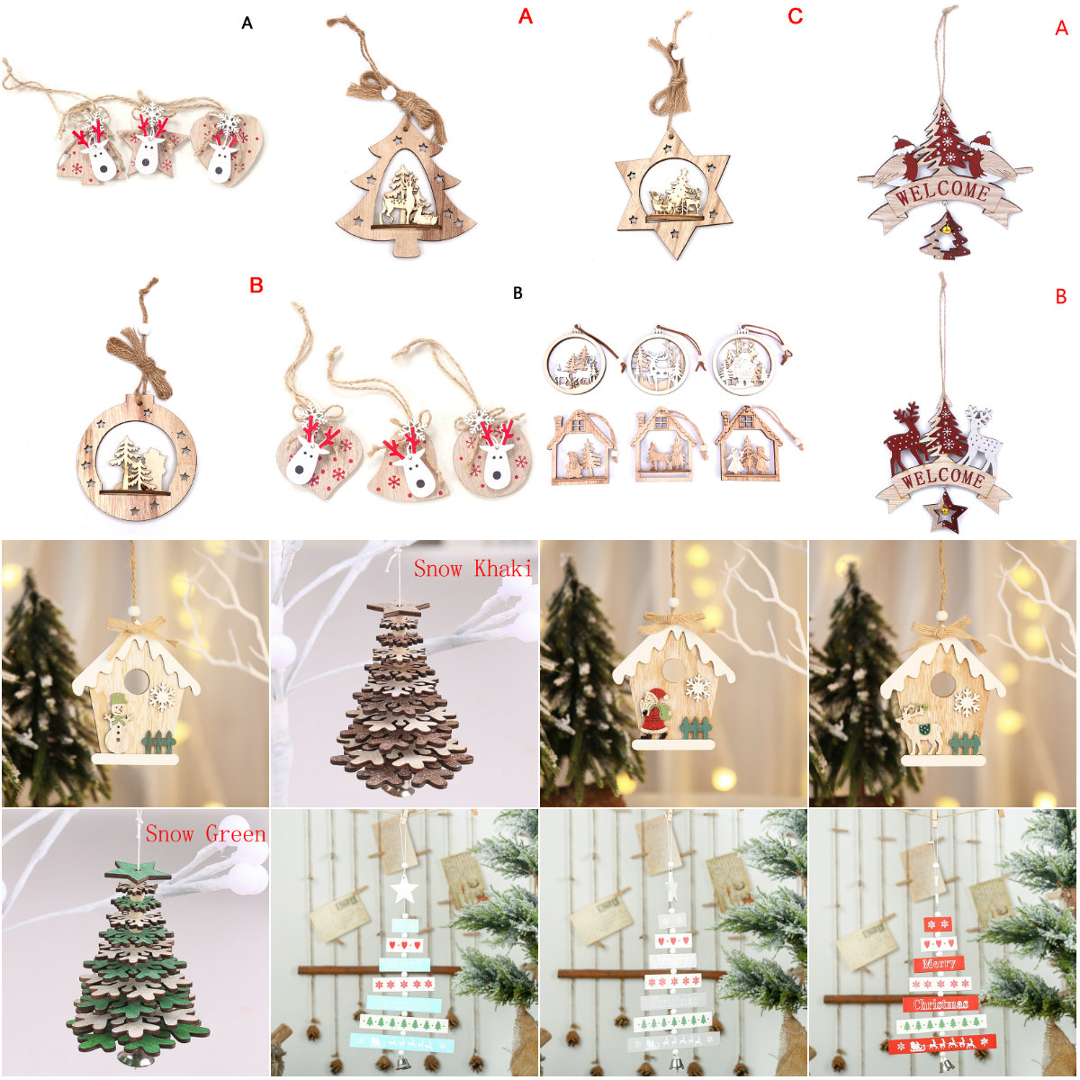 Nai-Style Unique 11CM Christmas Red Mini Glittered Christmas Tree Topper Star Colorful Craft Xmas Accessories