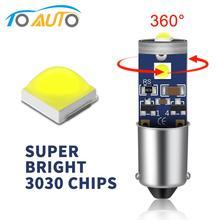 1 шт. BA9S T4W H6W авто светодиодный лампы 3SMD 3030 чипы Подсветка салона Canbus Error Free просвет светодиодный парковка светильник дневные ходовые огни 12V белый 6000K