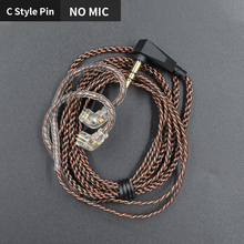 KZ ZSX ZST ZSN ZS10 Pro ZS3 ZS6 AS16 AS12 ZSN Pro Headphones with Mic Cable 2PIN Pin Upgrade Cable Earphone Original Wire kz zst zs3 zs5 as10 zs6 zs10 zsa es4 bluetooth 4 2 wireless upgrade module cable detachable cord applies kz original headphones