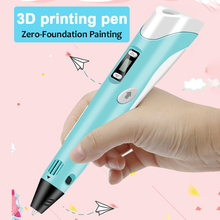 цена на 3D Pen Original DIY Printing Pen With 100M ABS/PLA Filament Creative Toy Gift For Kids Creative Design Drawing for Industrial