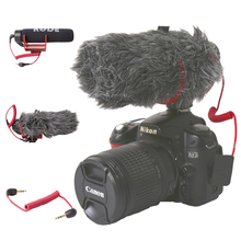 Orsda Ro דה VideoMicro ללכת על מצלמה מיקרופון עבור Canon ניקון Lumix Sony טלפונים חכמים משלוח Windsheild ידונית/מתאם כבל