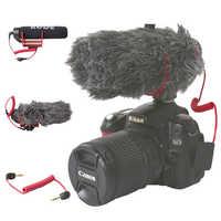 Orsda Ro de VideoMicro GEHEN Auf-Kamera Mikrofon für Canon Nikon Lumix Sony Smartphones Kostenloser Windsheild Muff/Adapter kabel