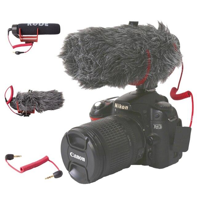 Orsda Ro de VideoMicro va sur caméra Microphone pour Canon Nikon Lumix Sony Smartphones gratuit Windsheild Muff/adaptateur câble