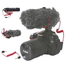 Ro de VideoMicro Orsda GO On Camera Microfone para Canon Nikon Lumix Sony Smartphones Grátis Windsheild Muff/Cabo Adaptador
