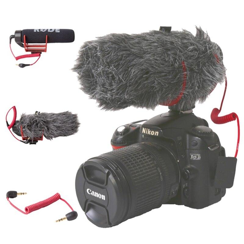 Ro de VideoMicro Orsda GO On-Camera Microfone para Canon Nikon Lumix Sony Smartphones Grátis Windsheild Muff/Cabo Adaptador