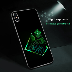 Image 5 - Ciciber Marvel чехол в виде светящегося стекла для iPhone 11 Чехол 7 8 6 6S Plus чехол для iPhone 11 Pro Max XR X XS Max Coque Iron Man