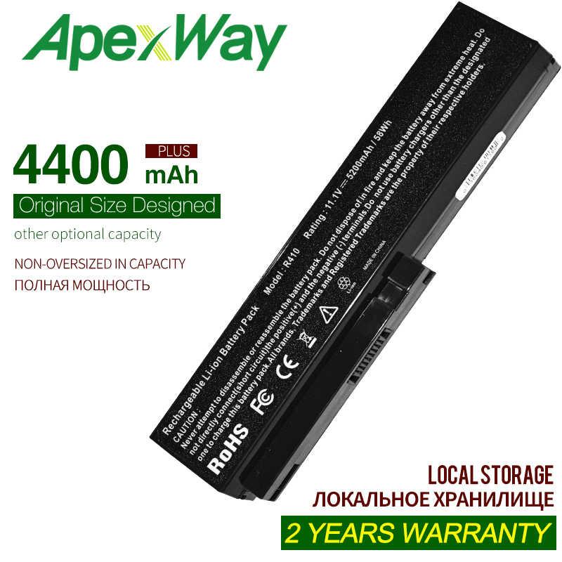 4400mAh Batterie pour LG R405 R410 R490 R500 R510 R480 E210-M SQU-804 SQU-805 SQU-807 SW8-3S4400-B1B1 3UR18650-2-T0188 916C7830F