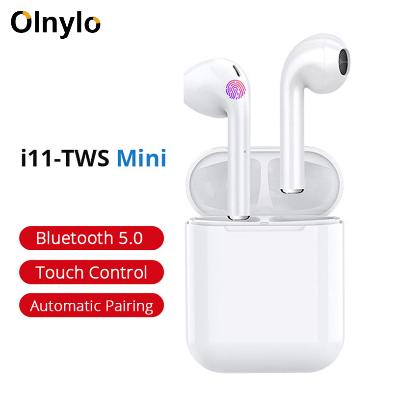 <font><b>i11</b></font> <font><b>Tws</b></font> Earphone Wireless <font><b>Bluetooth</b></font> <font><b>5.0</b></font> Earbuds Earphones With Mic Charging Box Sport Headset For iPhone XS 11 Pro Smart Phone image