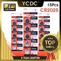 YCDC 15 stücke High Power 3 V CR2025 Li-Ion Batterie Fernbedienung Elektronische Instrument Skala Batterie Ersetzen BR2025 DL2025 KCR2025