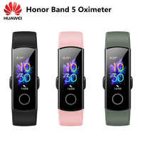 Originale Huawei Honor Fascia 5 Intelligente Wristband NFC Ossimetro di Ossigeno Nel Sangue Touch Screen di Nuotata Corsa di Rilevare la Frequenza Cardiaca di Sonno tracker