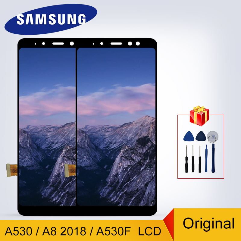 A530 Display Original For Samsung Galaxy A8 2018 A530 LCD Display Touch <font><b>Screen</b></font> <font><b>Replacement</b></font> Parts <font><b>A530F</b></font> LCD NEW <font><b>Screen</b></font> image