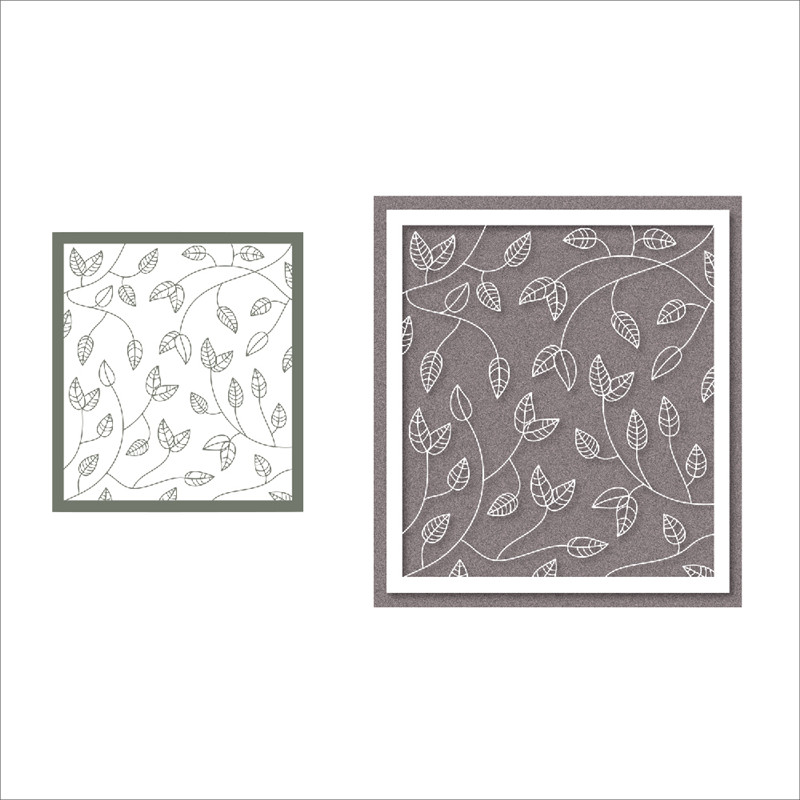 DiyArts New Background Metal Cutting Dies Foliage Frame Stencil Scrapbooking Photo Album Card Paper Embossing Craft DIY Dies in Cutting Dies from Home Garden