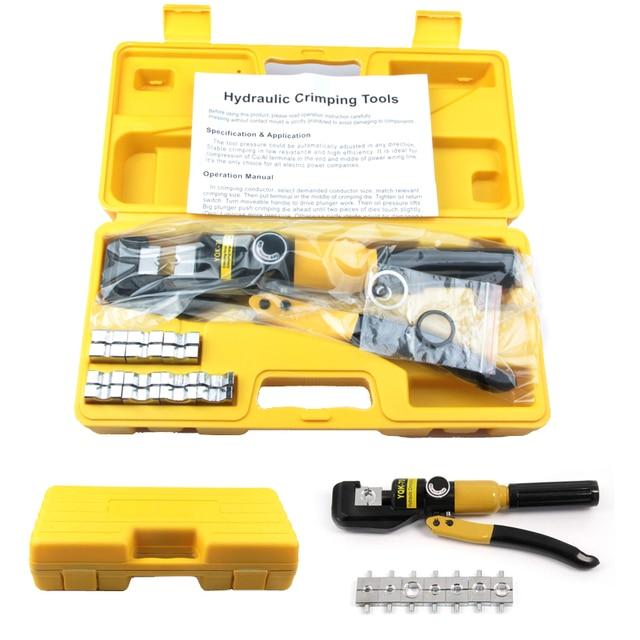 Гидравлический обжимной инструмент, устройство для работы с гидравлическим сжатием, диапазон 4 70 мм, давление 6T