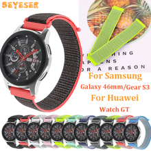 22mm Woven nylon band For Samsung Galaxy 46mm gear s3 smart watch strap replacement Huawei GT bracelet wristband