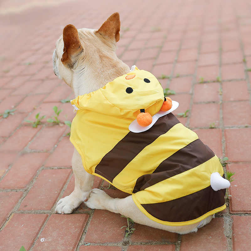 Impermeabile del cane Giallo Beed Carino Piccolo Cucciolo di Cappotto di Pioggia per Cani di Grossa Taglia Abbigliamento Pet Impermeabile Bulldog Francese Cappotti di Pioggia XS-7XL mantello