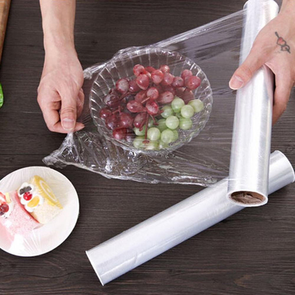 Горячие одноразовые фрукты овощи пластиковые Саран обертывание свежего хранения продуктов цепляется пленка кухонные помощники пищевая ст...