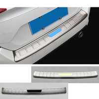 For Honda Civic 10th Sedan 2016 2017 2018 2019 Car External Rear Bumper Trim Styling Cover Detector Stainless Steel Plate Pedal
