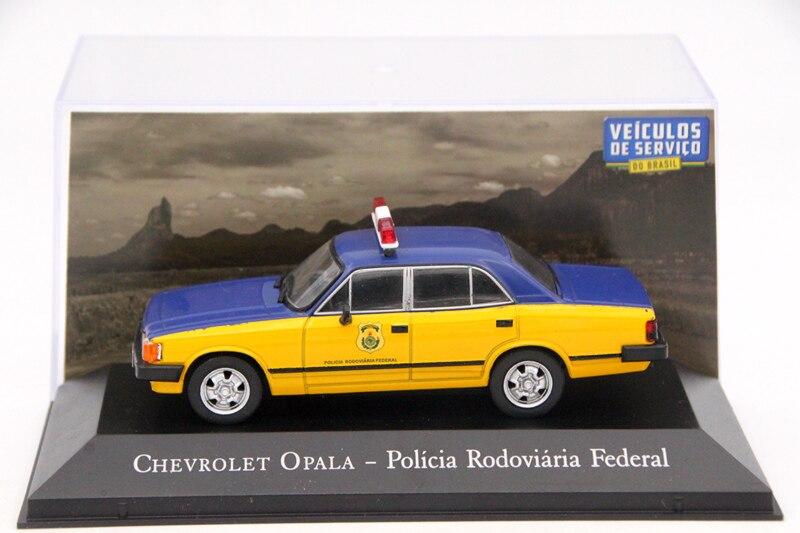 Ixo 143 para chevrolet opala policia rodoviaria federal brinquedos carro diecast modelos edição limitada coleção presente do automóvel