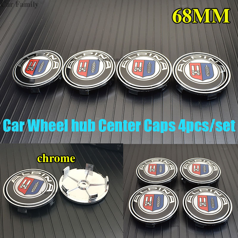 Hot 4pcs/set 68mm Car Wheel Center emblem Badge Auto Hub Caps For E90 F10 F30 F15 E63 E64 E65 E86 E89 E85 E91 E92 E93 image