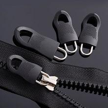 10 pçs universal destacável mini zip fixer substituição zíper tags extrator conjunto para baixo jaquetas e sacos preto zíperes puxar cabo