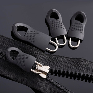 Универсальный съемный мини-фиксатор на молнии, 10 шт., сменные бирки на молнии, Набор съемников для пуховых курток и сумок, черный шнур на молн...