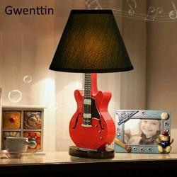 Cartoon gitara lampy stołowe nowoczesne Led stojak lampka na biurko oprawy lampy stojące dla dzieci pokój sypialnia lampki nocne lampa studyjna|Lampy stołowe LED|   -