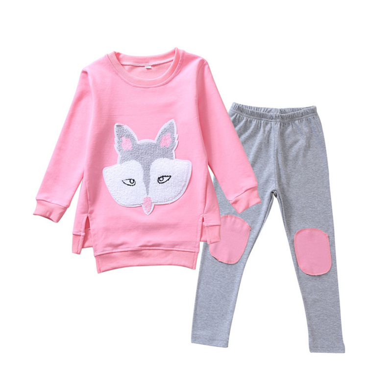 Children Clothing Autumn Cartoon Girls Sets Long Sleeve Tracksuit For 3- 13 Years old Girls Clothes Sport Suit Kids Clothes Sets 6